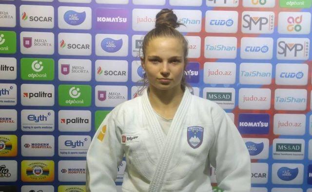 Mladi bežigrajski judoistki Kaji Kajzer ni bilo do smeha. FOTO: Miha Šimnovec