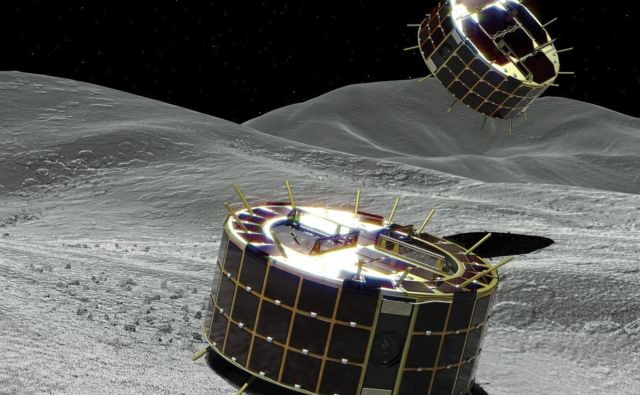 Asteroid Ryugu sta mali tehnološki napravi dosegli po treh letih in pol dolgem potovanju. FOTO: AP