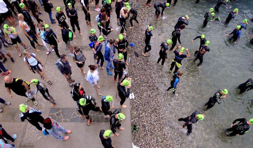 FOTO:Na Obali mravljišče triatloncev na krstnem slovenskem ironmanu (FOTOGALERIJA)