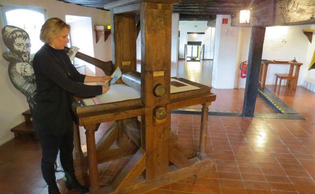 Obnovljena in dopolnjena Valvasorjeva grafična delavnica v gradu Bogenšperk Foto Bojan Rajšek