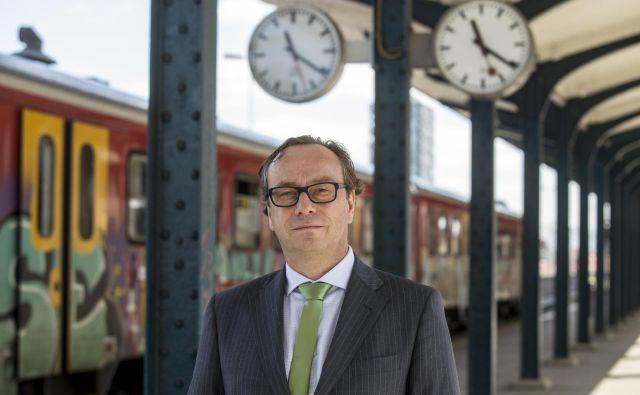 Smiljan Mekicar si bo prizadeval za sodobno železniško infrastruktuo. FOTO: Voranc Vogel/Delo
