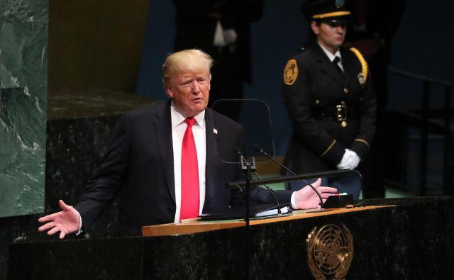 Donald Trump je nagovoril zbrane na 73. zasedanju Generalne skupščine Združenih narodov. U.S. FOTO: Reuters