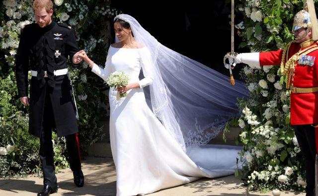 Meghan je v dokumentarnem filmu razkrila skrivnost nastajanja njene poročne obleke. FOTO Guliver/getty Images