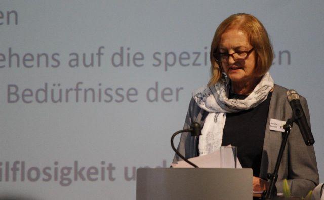 Voditeljica in pobudnica organizacije za pomoč mladoletnim žrtvam in njihovim družinam STIBB e.V. Annelie Dunand. FOTO: osebni arhiv