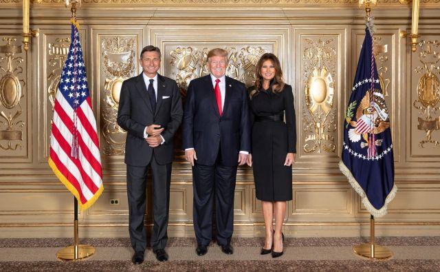 Borut Pahor z Donaldom in Melanio Trump. FOTO: Official White House Photo