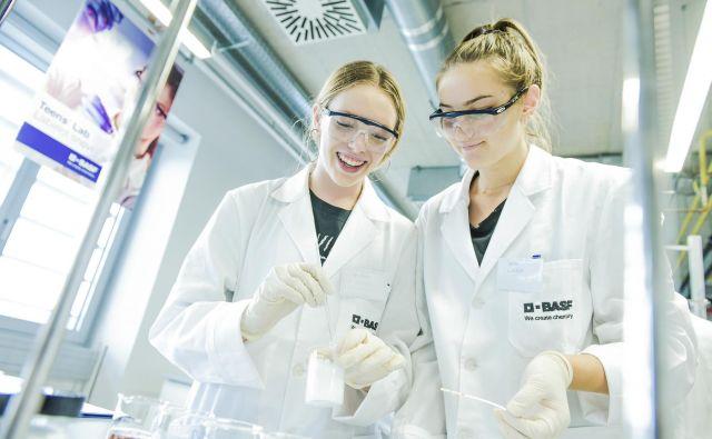 Teens' Lab podjetja Basf je navdušil dijake. Foto Arhiv Basf