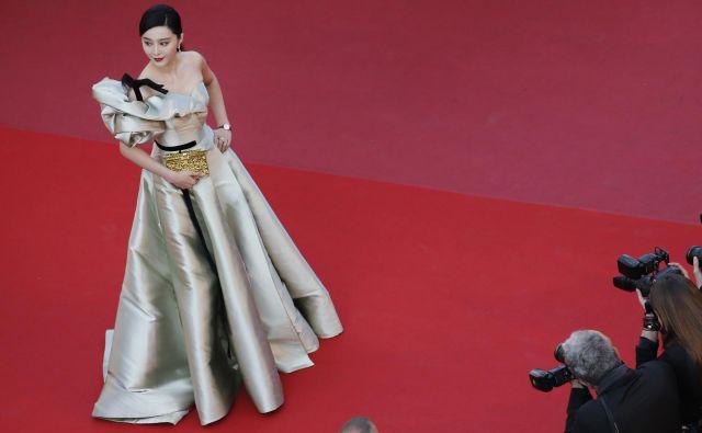 Fan Bingbing na letošnjem festivalu v Cannesu, potem se je zanjo izgubila vsaka sled... FOTO: Reuters