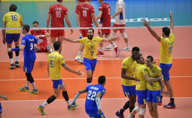 Brazilsko veselje je bilo nepopisno. FOTO: FIVB
