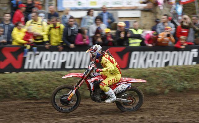 Tim Gajser še ni rekel zadnje v bitki za končno 3. mesto. FOTO: Leon Vidic/Delo