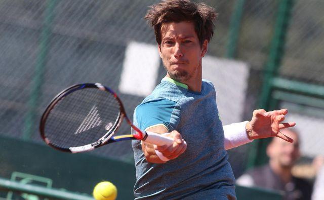 Aljaž Bedene je osvojil turnir serije challenger v Orleansu. FOTO: Tomi Lombar/Delo