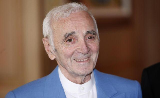 Charles Aznavour je občinstvo navduševal kar 80 let. FOTO: AP