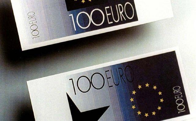 Osnutek evrskega bankovca iz leta 1996 FOTO: Reuters