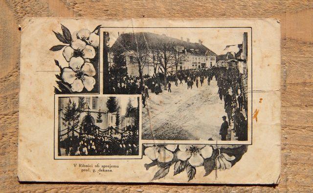 Prihod dekana Antona Skubica so slavili leta 1914. Foto Simona Fajfar