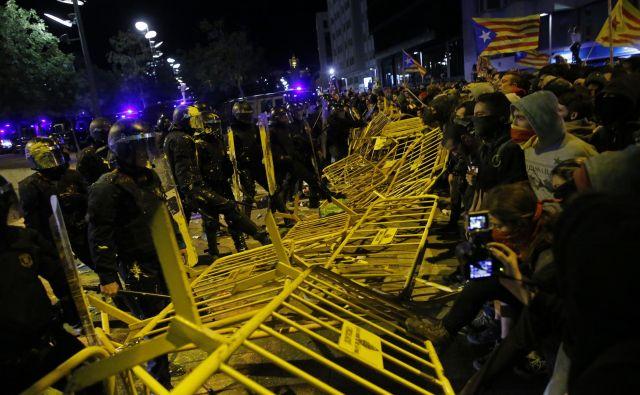 Protest zagovornikov katalonske neodvisnosti v Gironi FOTO: AP