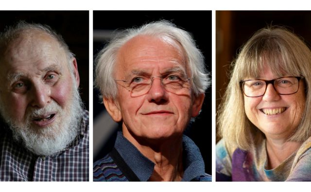 Arthur Ashkin, Gerard Mourou in Donna Strickland FOTO:Reuters