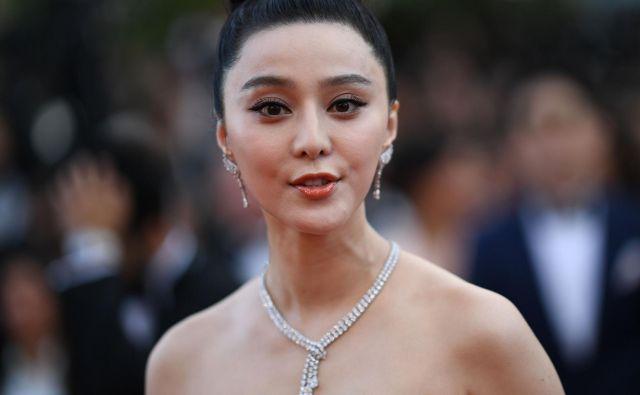 Honorarji Fan Bingbing v domači filmski produkciji so se gibali v milijonskih zneskih. FOTO: Loic Venance/AFP