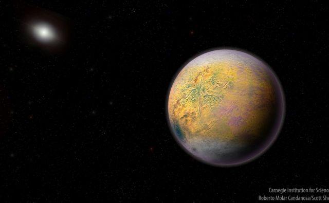 Umetniška upodobitev pritlikavega planeta Goblin. Ilustracija: Roberto Molar Candanosa/Scott Sheppard/Carnegie Institution for Science