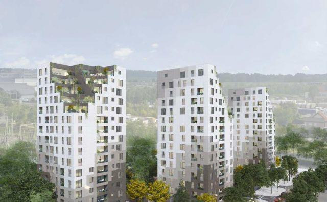 V Šiški bodo slovaški investitorji zgradili okoli 200 stanovanj in podzemno garažo z okoli 400 parkirnimi mesti.