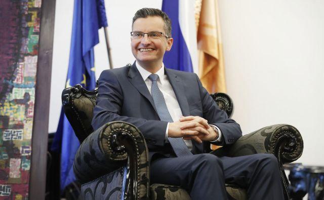 Premier Marjan Šarec na kongresu slovenskih občin v torek v Rimskih Toplicah. FOTO: Leon Vidic/Delo