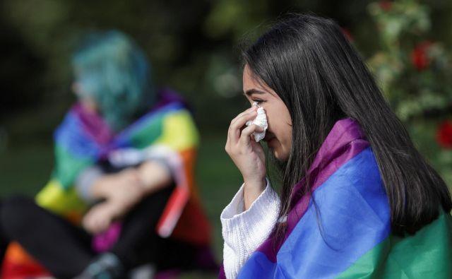 Nevladniki opozarjajo, da je namen referenduma simbolično marginalizirati lezbijke, geje, bisekuslace in transspolne osebe. Foto: Reuters