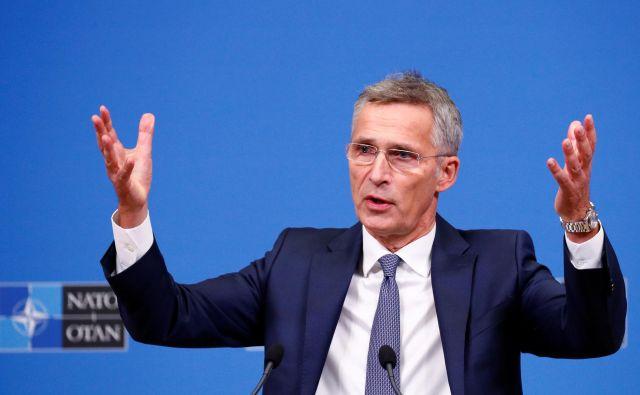 Jens Stoltenberg Sloveniji: »Če se skupni izdatki ne bodo občutno povečevali, ne bo dovolj virov, da bi nadomestili mnoga leta premajhnih naložb.« Foto Reuters