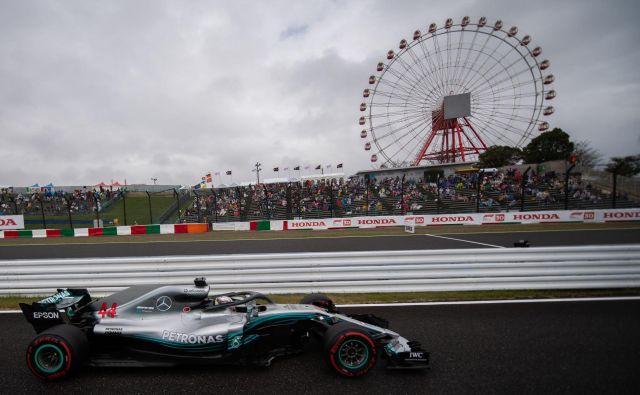 Lewis Hamilton si je kvalifikacijsko konkurenco pokoril osmič letos. FOTO: Martin Bureau/AFP