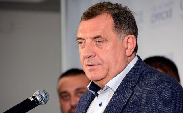 Milorad Dodik ne skriva teženj po odcepitvi srbske entitete od BiH. FOTO: Reuters