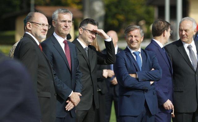 Generalni sekretar Nata Jens Stoltenbergna Brdu pri Kranju.<br /> Foto Leon Vidic