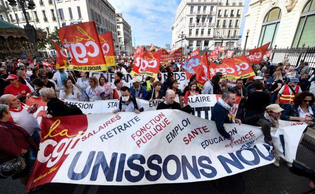Povežimo se, so pozivali tdi v Marseillu. FOTO: AFP