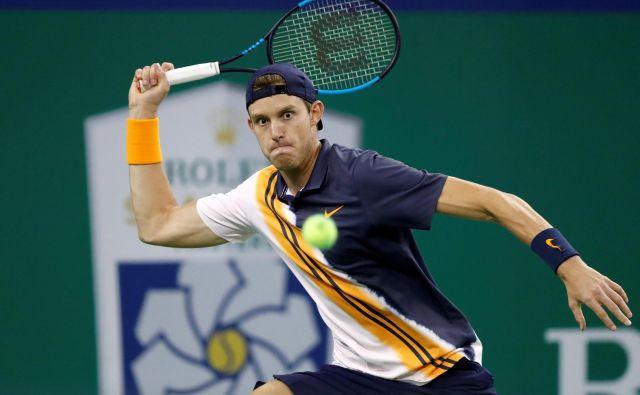 Nicolas Jarry je v dvoboju s šestim igralcem sveta Marinom Čilićem rešil dve zaključni žogici. FOTO: Reuters/Aly Song