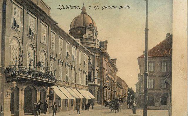 Hotel Elefant (Slon), razglednica, okr. 1909, SI_ZAL_LJU/0342, Fototeka Hotel Bavarski dvor in hotelir Victor Petsche, razglednica, posl. 23. 7. 1907, v: Pozdrav iz Ljubljane, str. 115. Foto C C