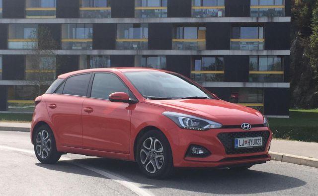 Hyundai i20 ni velik, a ima skoraj vse. FOTO: Gašper Boncelj