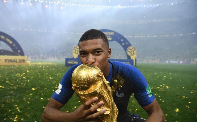 Kylian Mbappe je bil eden od junakov francoske zmage na mundialu. FOTO: AFP