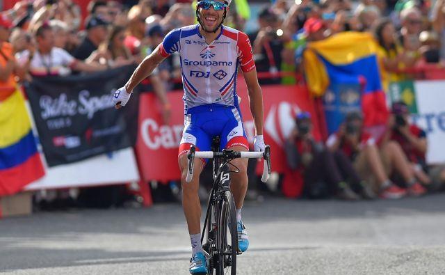 Thibaut Pinot je v odlični formi, kar je dokazal z zmago na dirki Milano-Torino, danes bo eden glavnih favoritov za zmago. Foto AFP
