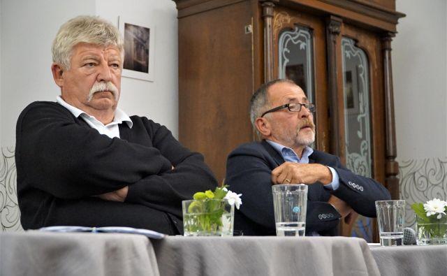 Aleš Ilc (levo) in Franci Zidar za razvoj Celja predlagata številne rešitve. FOTO: Brane Piano