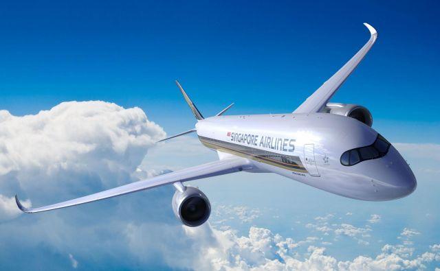 Letalo letalske družbe Singapore Airlines FOTO: AFP