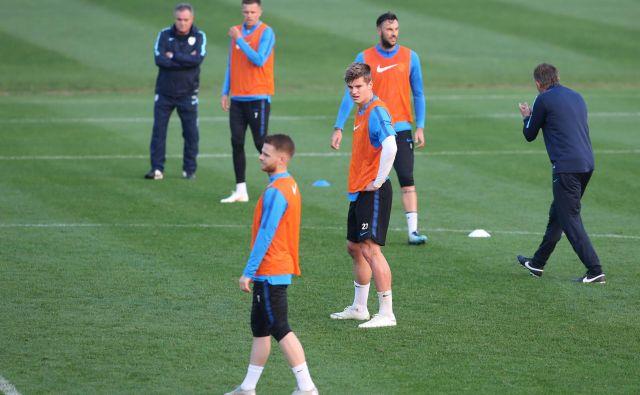 Zadnji trening slovenske nogometne reprezentance pred tekmo z Norveško.