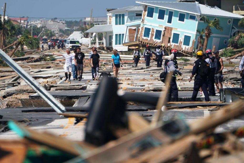 FOTO:»Videti je, kot bi na območje padla atomska bomba«