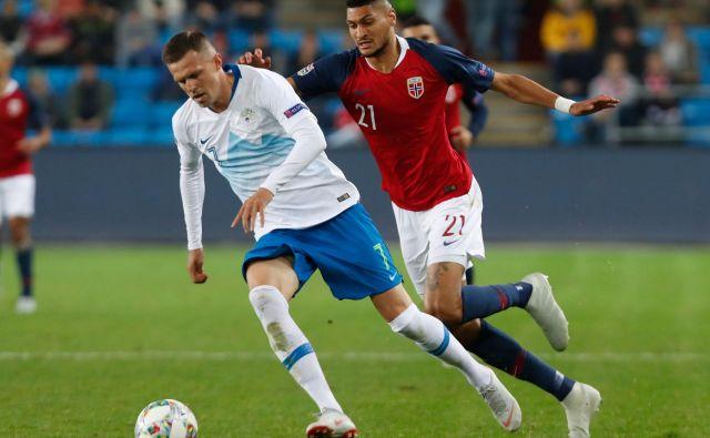 V zadnjih pol ure, kolikor je igral, je Josip lličić razkril, kaj manjka in kako nepogrešljiv je zvezdnik Atalante v mladi in neizkušeni slovenski reprezentanci. FOTO: AFP