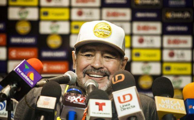 Diego Maradona je bil spet brez dlake na jeziku. FOTO: AFP