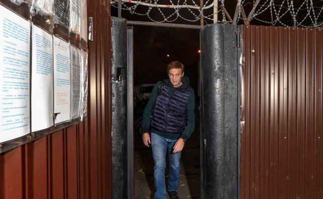 Aleksej Navalni je bil v zaporu 50 dni. FOTO: Vasily Maximov/Afp