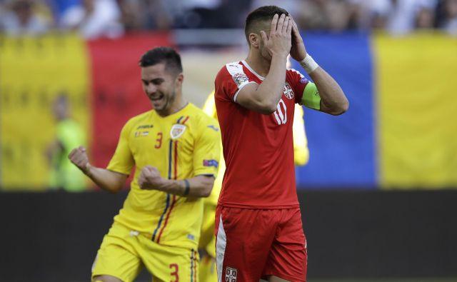 Dušan Tadić se je lahko le prijel za glavo. FOTO: Vadim Ghirda/AP