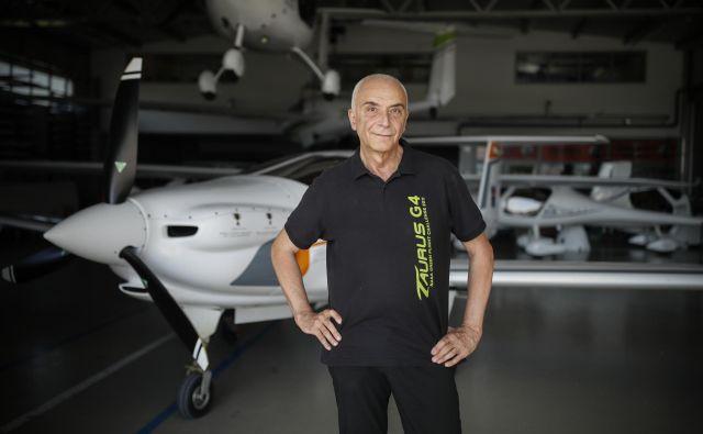 Ivo Boscarol, lastnik in direktor podjetja Pipistrel, v Ajdovščini.