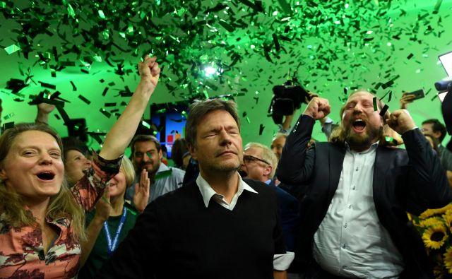 Voditelji Zelenih – na fotografiji z leve Henrike Hahn, Robert Habeck in Anton Hofreiter – so odločni, dinamični, takšni, kot si želijo nemški volivci. Foto: Reuters