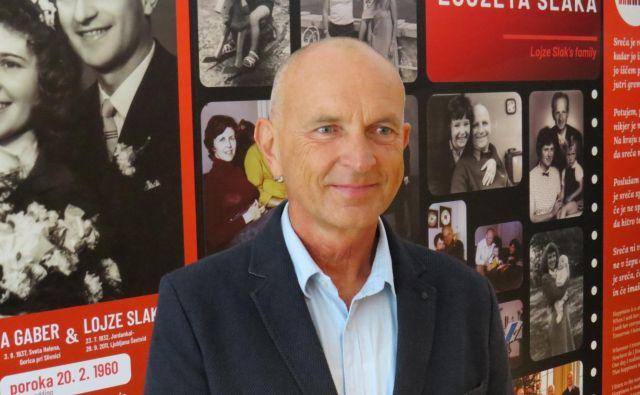 Slavko Slak, sin Lojzeta Slaka, pravi, da se z ureditvijo muzeja uresničuje dolgoletna želja družine in tudi njegovega očeta. FOTO: Bojan Rajšek/Delo