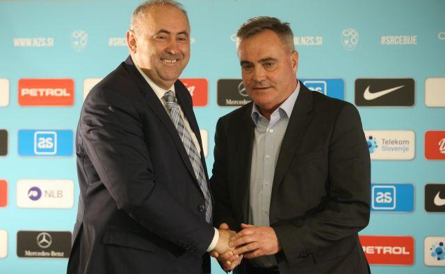 Radenko Mijatović je še selektor, Tomaž Kavčič nič več. FOTO: Jože Suhadolnik/Delo