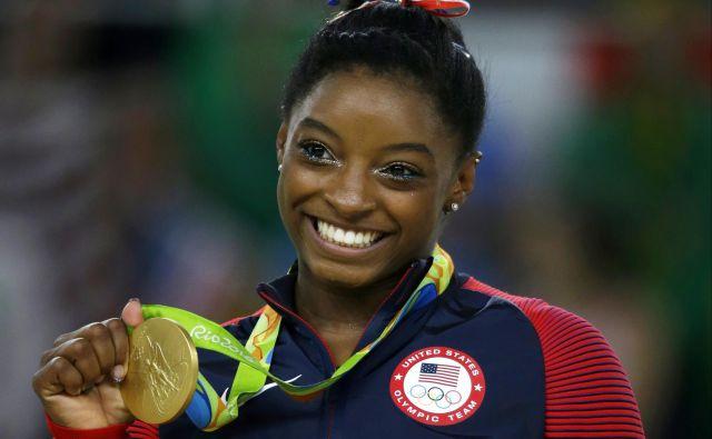 Simone Biles je prva zvezdnica ameriške gimnastike. FOTO: AP