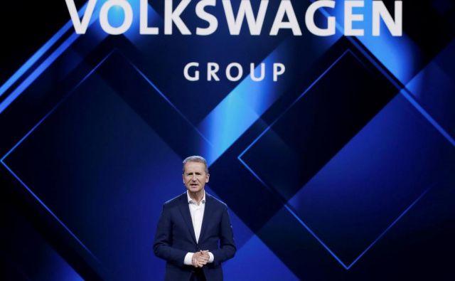 Herbert Diess, šef Volkswagna opozarja na negotovo nemško avtomobilsko prihodnost.