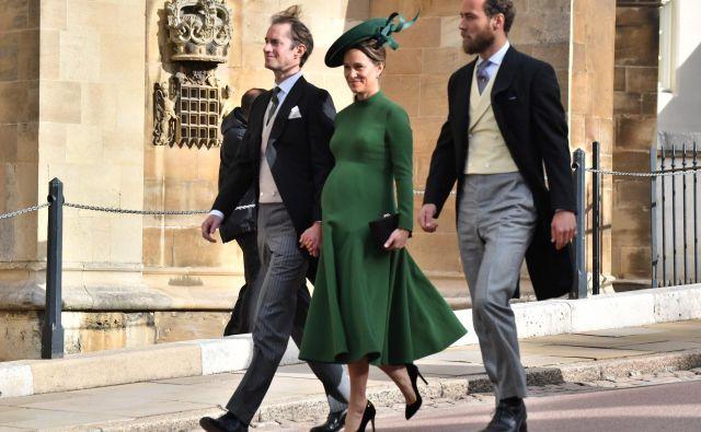 Pippa Middleton je bila še v petek kljub visoki nosečnosti na poroki. FOTO: Guliver/Getty Images