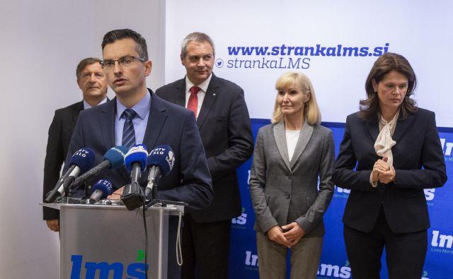 Marjan Šarec je povedal, da je sporazum realizacija dogovora o sodelovanju, ki smo ga imeli, še preden je bila sestavljena vlade. FOTO: Voranc Vogel/Delo
